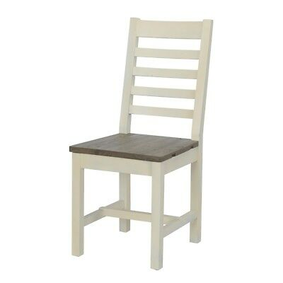 "40"" Tall Dining Chair Solid Reclaimed Pine Two Tone Hand Applied Finish"