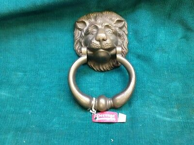 NEW w/ Tag Vintage Brass Lion Head Door Knocker - Peerage - Made in England