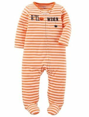 NEW CARTER'S BOY GIRL SLEEPER PAJAMA FLEECE MY 1ST FIRST HALLOWEEN newborn NB