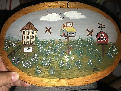 Handpainted11 inch x 7 5/8 inch Tall 1/8 inch Thick  Baske Lid Free Shipping #1
