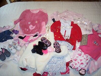 Girls 3 / 6 6 Months Clothes Lot Shoes Size 2 Robeez Disney Carters Sleepers