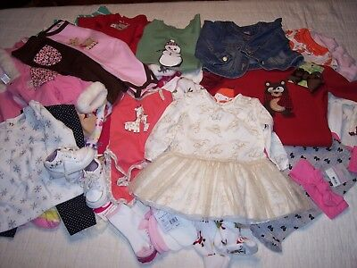 Girls 6/9 9 Months Clothes Lot Shoes 3.5 Stride Rite Gap Disney Baby Pants  Tops