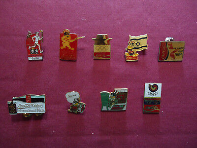 Olympic Coca-Cola Pins - Lot of 9