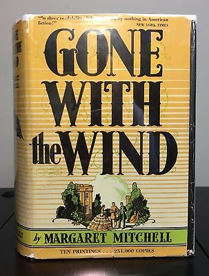 GONE WITH THE WIND by Margaret Mitchell ~ 1st ed & TRUE 2nd print~ JUNE~ VG+