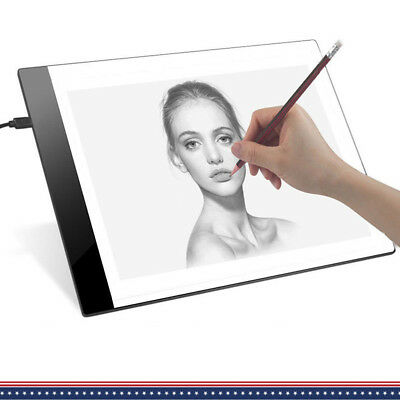 A4 LED Tracing Light Box Stencil Drawing Pad Diamond Painting Board X-ray View