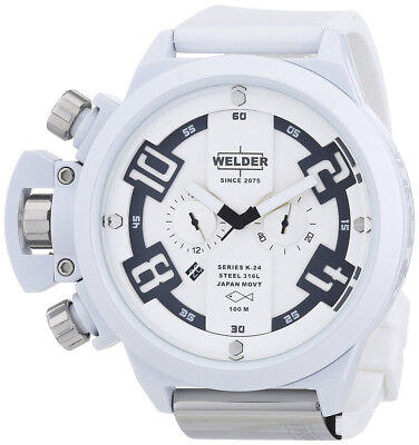 Welder by U-Boat K24 Oversize Chronograph White Ion-Plated Mens Watch K24-3311