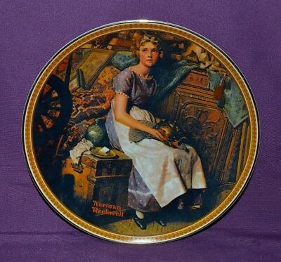 """Plate By Norman Rockwell """"dreaming In The Attic"""" Rockwell's Rediscover Women"""
