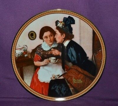 """Plate By Norman Rockwell """"gossiping In The Alcove"""" Rockwell's Rediscover Women"""