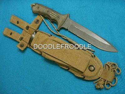 Chris Reeve Harsey Green Beret Special Forces Combat Fighting Bowie Knife Sheath