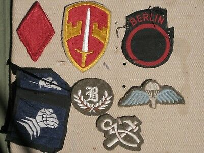 7 USA, UK and Australian cloth patches.