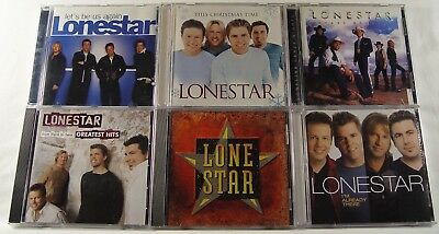 LONESTAR 6 CD Lot -Already There, Crazy Nights, Be Us, S/T,  Christmas, Hits
