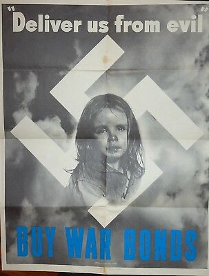 Rare Deliver Us From Evil World War 2 Patriotic Poster #1