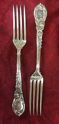 Pair of Sterling  Reed & Barton L'Parisienne Dinner Forks