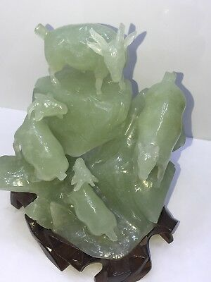 Vintage Hand Carved Greenish White Jade. (Museum Quality Piece) Really Beautiful