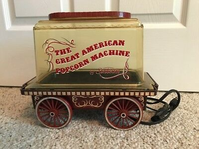 VIntage The Great American Popcorn Machine by Sunbeam - Working Condition