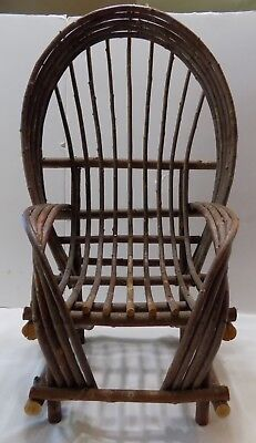 ANTIQUE CHILD'S TWIG ROCKING CHAIR AWESOME CONDITION Wood