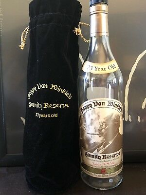 Pappy Van Winkle Family Estate 23 Year Empty Bottle With Bag