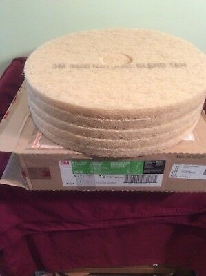 Case 3M Nautral Blend Tan Tarnish Pads 19 Inch Model 3500 Janitorial Supplies