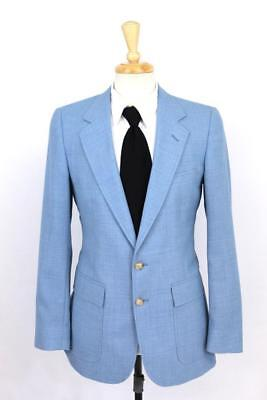vintage 70s mens blue AH AUSTIN HILL blazer jacket sport coat retro S 38 R