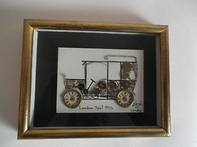 L Kersh Of London Signed Horological Collage - London Taxi 1923