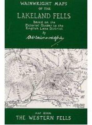 Wainwright Maps of the Lakeland Fells: Map 7: The Western Fells by Alfred...