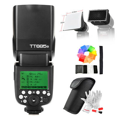 Godox TT685O TTL GN60 2.4GHz Wireless Remote Camera Flash With  Honeycomb Grid