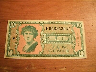 Ten Cents Military Payment Certificate Note Series 541