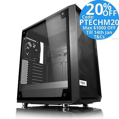 Fractal Design Meshify C Dark Tint Mid-Tower ATX PC Case Tempered Glass Side Win