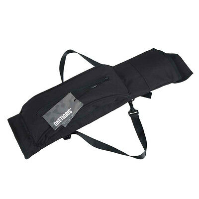 Hunting Arrow Quiver Archery Bow Arrow Holder Back Belt Bag Black Pouch UK Quick