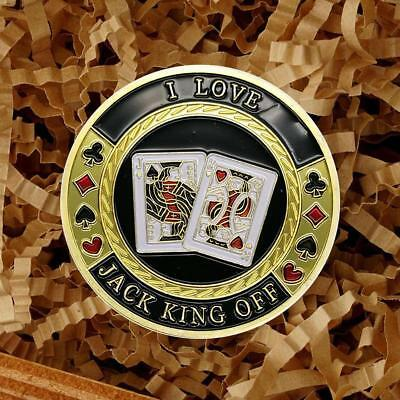 Playing Card Commemorative Round Collectors Coin Bitcoin Gold Plated Coins