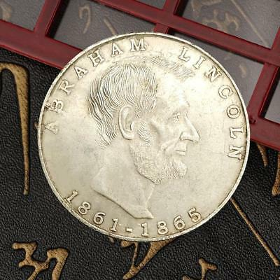 United State President Lincoln Commemorative Round Coin Bitcoin Gold Plated Coin