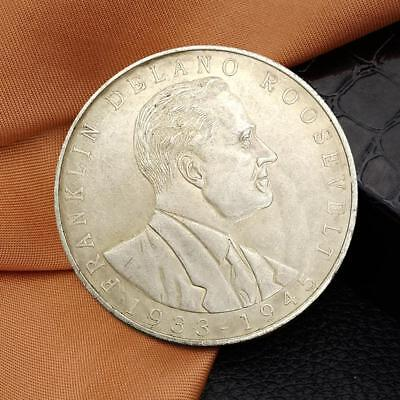 United States President Roosevelt Commemorative Round Coins Bitcoin Silver Coins