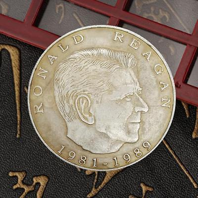 United State President Reagan Commemorative Round Coins Bitcoin Gold Plated Coin