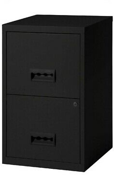 Pierre Henry Maxi Desktop 2 drawer lockable A4 filing cabinet - Black - New +24h