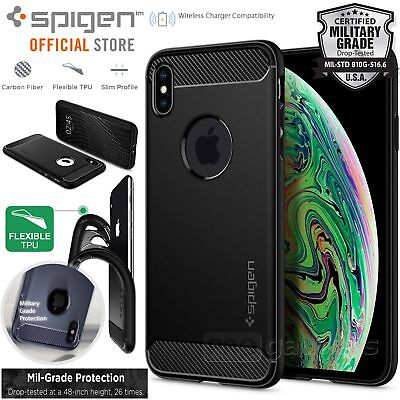 watch 45ba3 2336b [FREE EXPRESS] IPHONE XS Max Case, Spigen Rugged Armor Cover for Apple