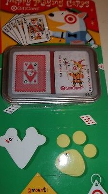 Target Birthday Puppy Playing Cards Collectible Gift Card No Balance