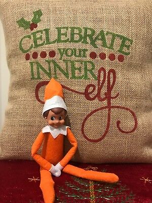 Christmas Elf Doll, Orange BOY Elf Doll Only