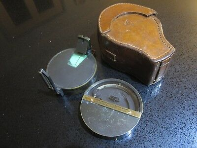 Antique Cased Set Prismatic Compass and Clinometer by Hicks of London