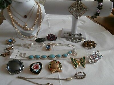 Job lot of mixed jewellery from Vintage to Modern all wearable or re-sell