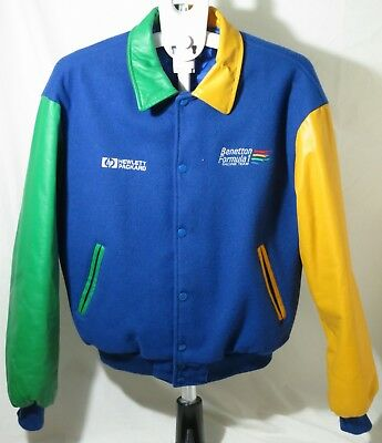 Bennetton Formula 1 Racing Team Medium Mens Bomber Jacket Thames hospice 102R2