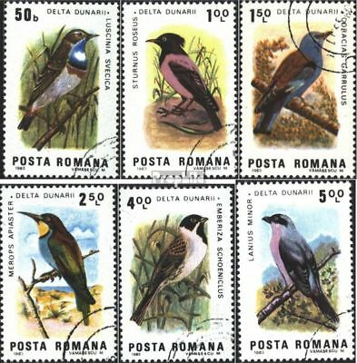 Romania 3966-3971 (complete issue) unmounted mint / never hinged 1983 Birds of D