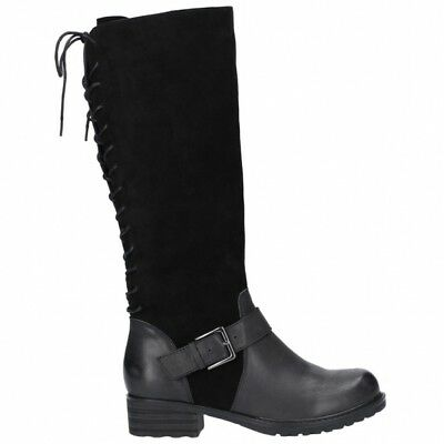 87a639fc76a Hush Puppies POMERANIAN Ladies Womens Suede Leather Riding Tall Boots Black