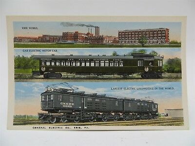 Vintage Early 1900's Postcard, General Electric Company - Train Factory Erie, PA