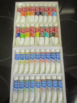 Reeves watercolour tubes and Reeves Gouache tubes
