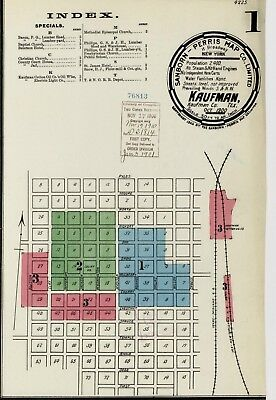 Kaufman, Texas~Sanborn Map© sheets~on CD~7 maps in color made 1885 to 1900