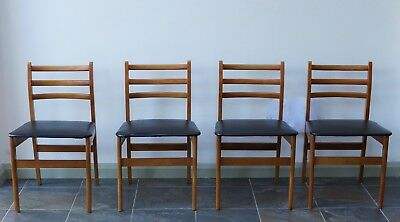 4 Dining Chairs Mid Century Danish Vintage  - We Can Deliver