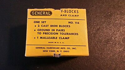 general V-Blocks and clamp 116