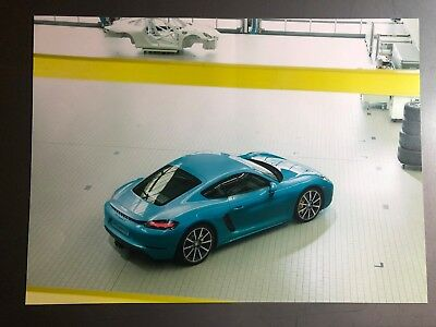 Porsche 718 Cayman S Coupe Showroom Advertising Sales Poster RARE!! Awesome