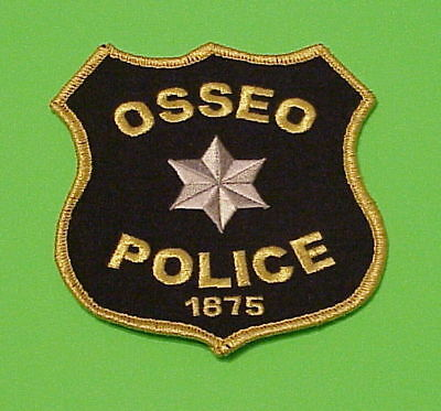 Osseo  Minnesota  1875  Mn   Police Dept. Patch  Free Shipping!!!