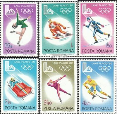 Romania 3666-3671 unmounted mint / never hinged 1979 olympic. Winter Games 1980